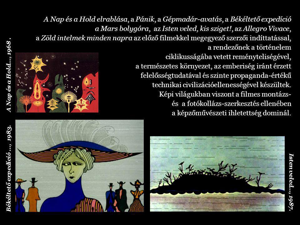 A filmek a jelképekből építkező kelet-európai folklórt, illetve Heinz Edelmann Sárga tengeralattjárójának vibráló pop artos szín- kavalkádját és formaritmusát idézik.