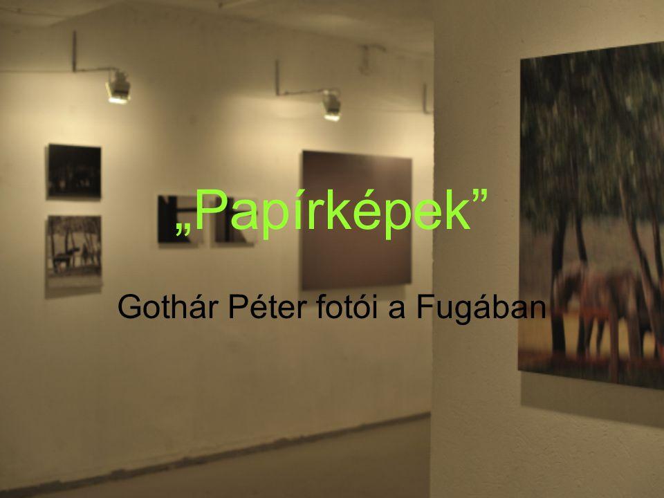 """""""Papírképek Gothár Péter fotói a Fugában"""