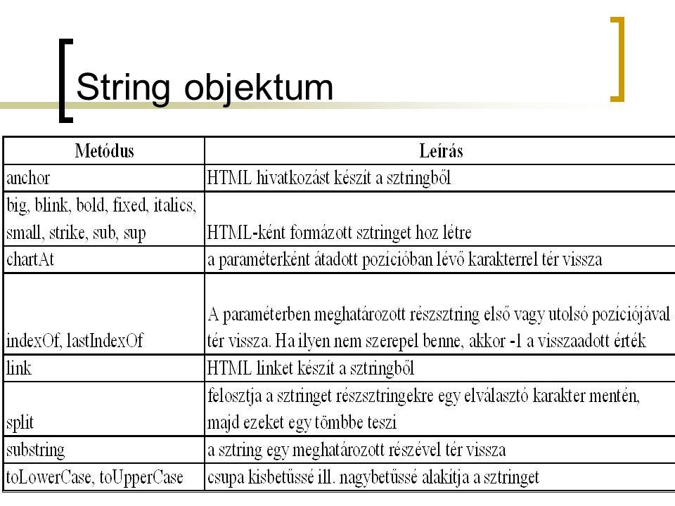 String objektum