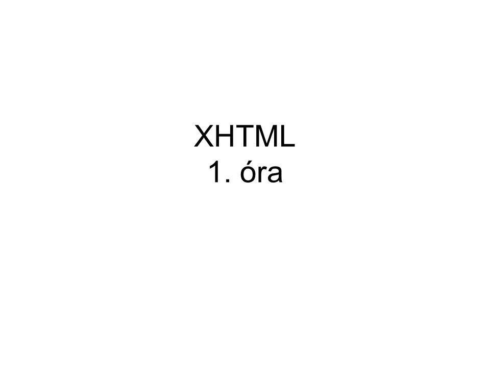 XHTML 1. óra
