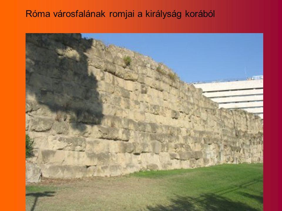 Róma városfalának romjai a királyság korából