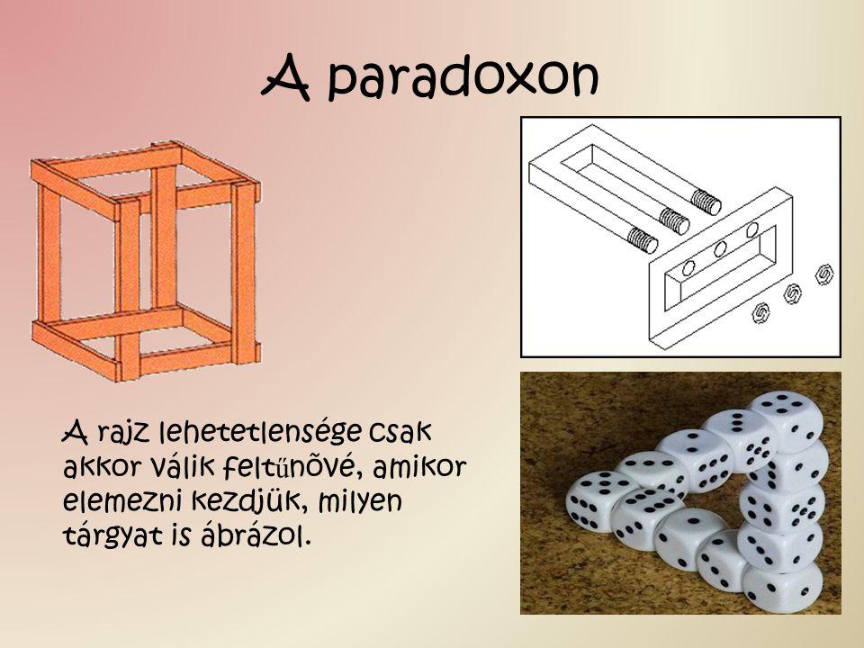 A paradoxon A rajz lehetetlensége csak akkor válik felt ű nõvé, amikor elemezni kezdjük, milyen tárgyat is ábrázol.