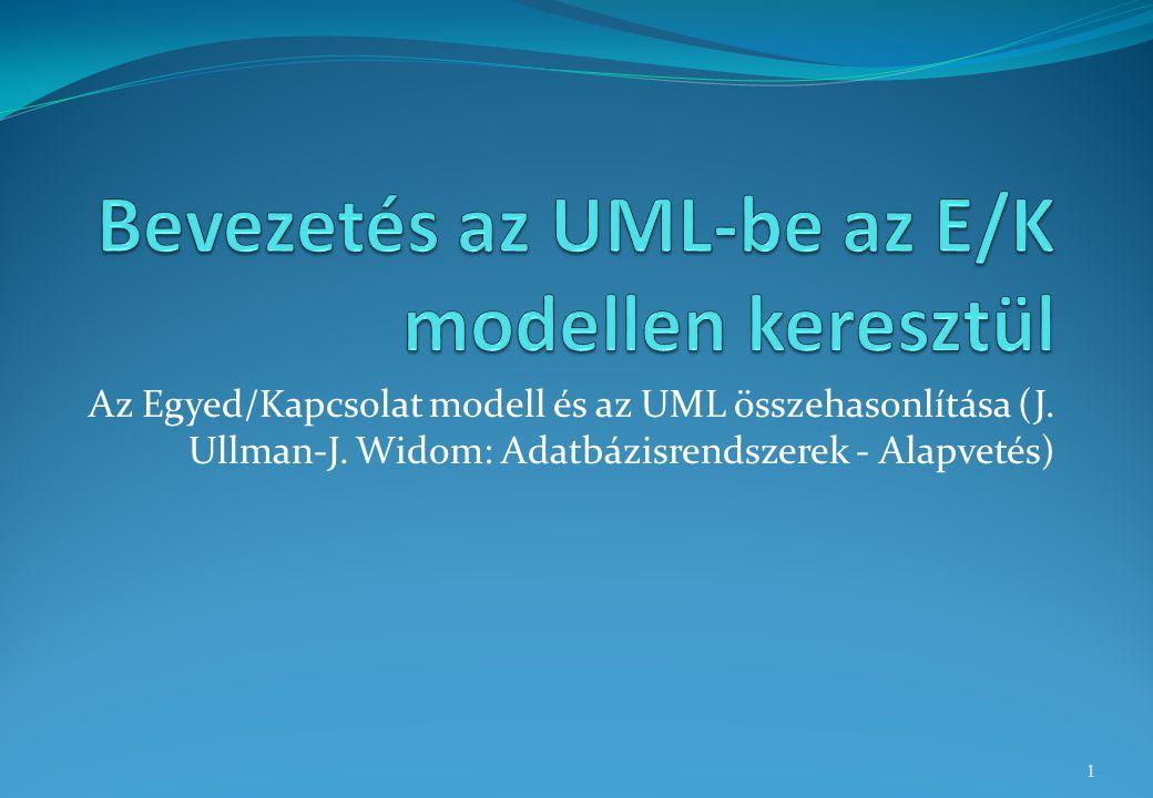 Az Egyed/Kapcsolat modell és az UML összehasonlítása (J. Ullman-J. Widom: Adatbázisrendszerek - Alapvetés) 1