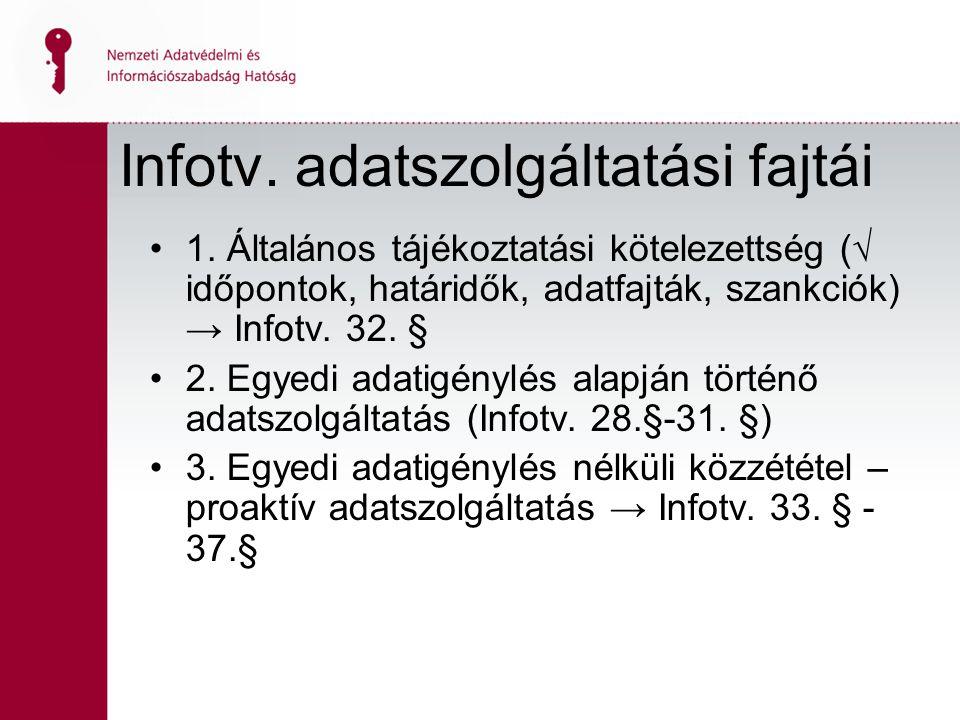 2 Infotv. adatszolgáltatási fajtái 1.