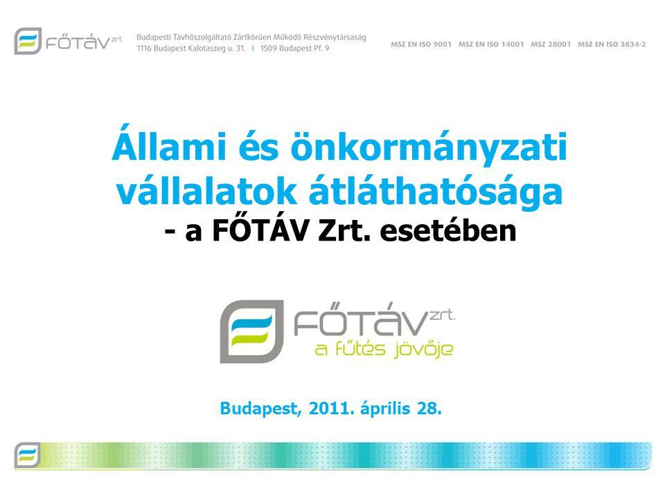 Állami és önkormányzati vállalatok átláthatósága - a FŐTÁV Zrt.