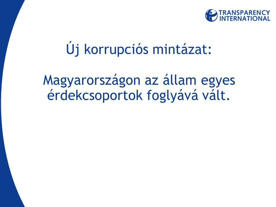 Új korrupciós mintázat: Magyarországon az állam egyes érdekcsoportok foglyává vált.