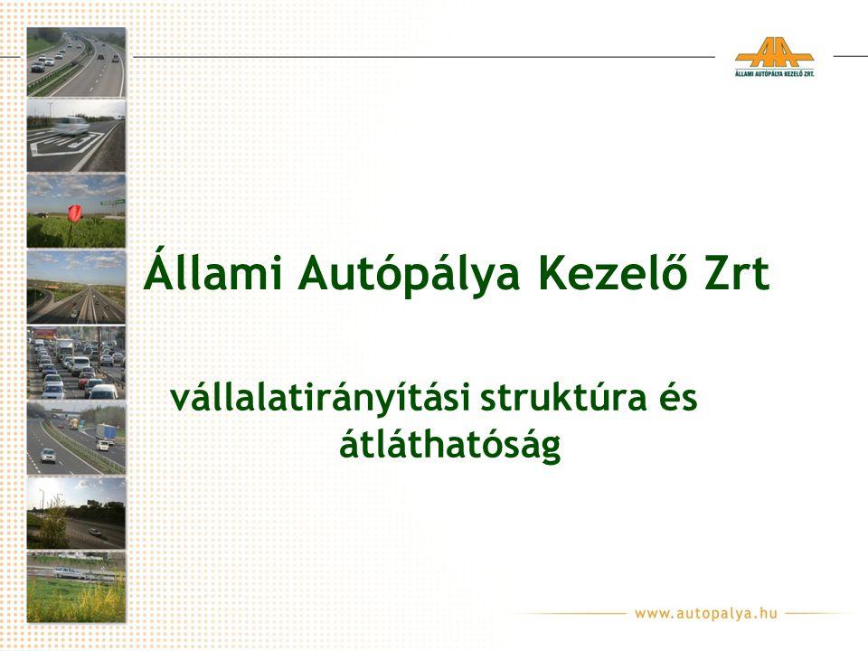 Állami Autópálya Kezelő Zrt vállalatirányítási struktúra és átláthatóság