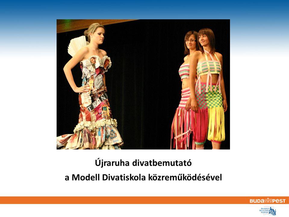 Újraruha divatbemutató a Modell Divatiskola közreműködésével