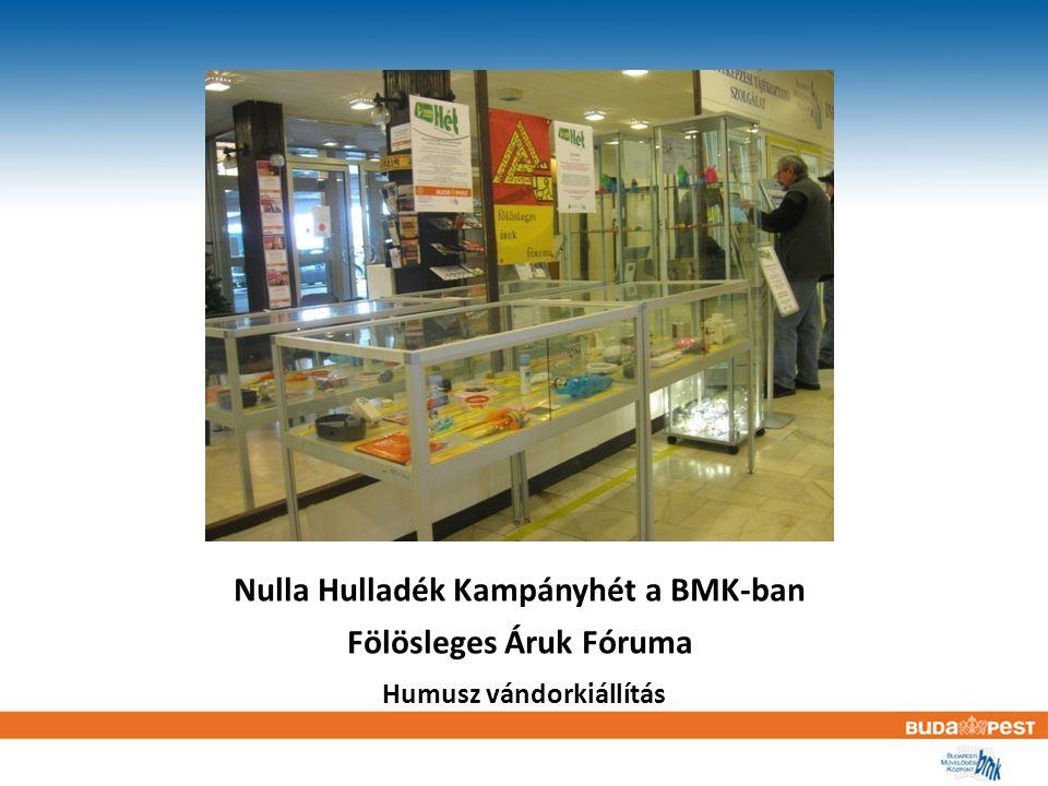 Nulla Hulladék Kampányhét a BMK-ban Fölösleges Áruk Fóruma Humusz vándorkiállítás