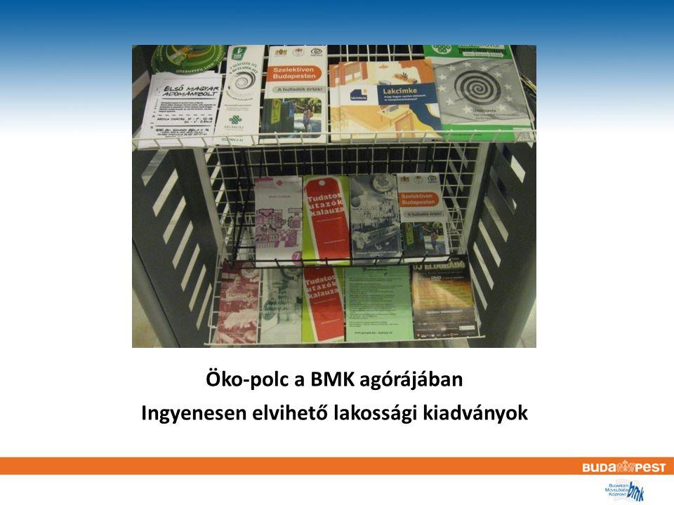 Öko-polc a BMK agórájában Ingyenesen elvihető lakossági kiadványok