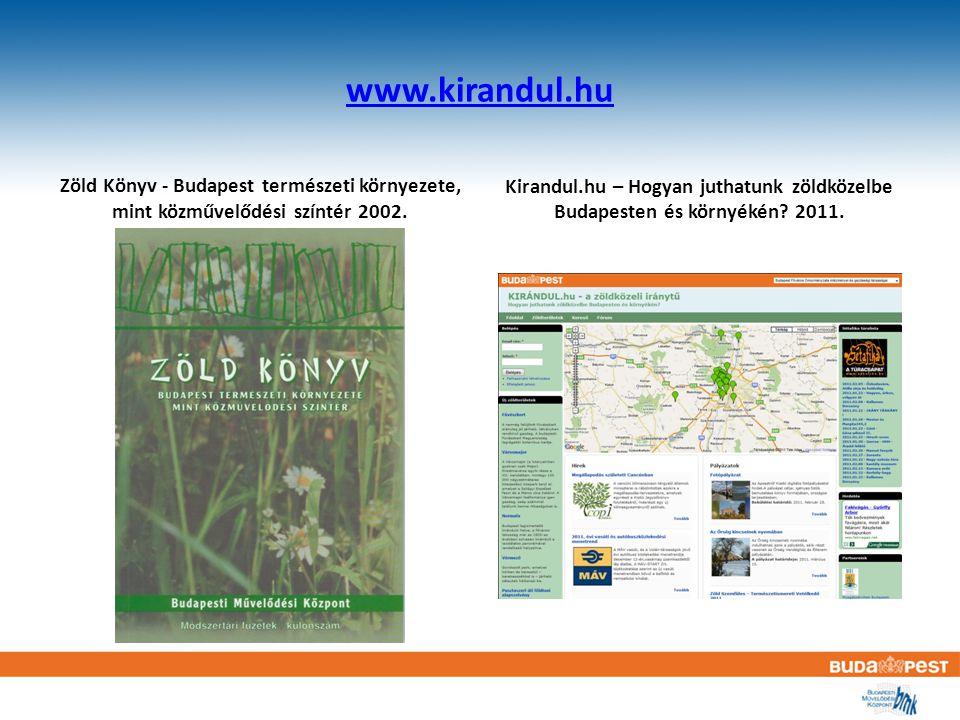www.kirandul.hu Zöld Könyv - Budapest természeti környezete, mint közművelődési színtér 2002.