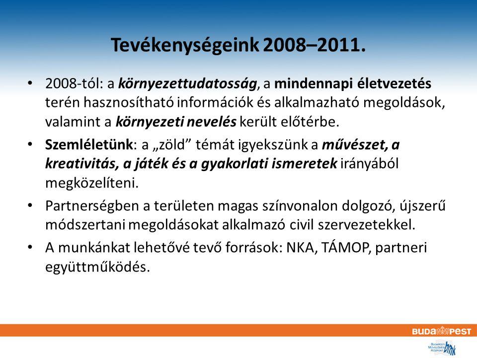 Tevékenységeink 2008–2011.