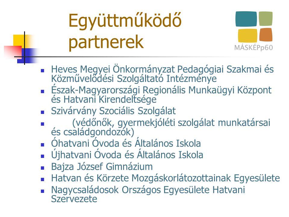 Együttműködő partnerek Heves Megyei Önkormányzat Pedagógiai Szakmai és Közművelődési Szolgáltató Intézménye Észak-Magyarországi Regionális Munkaügyi K