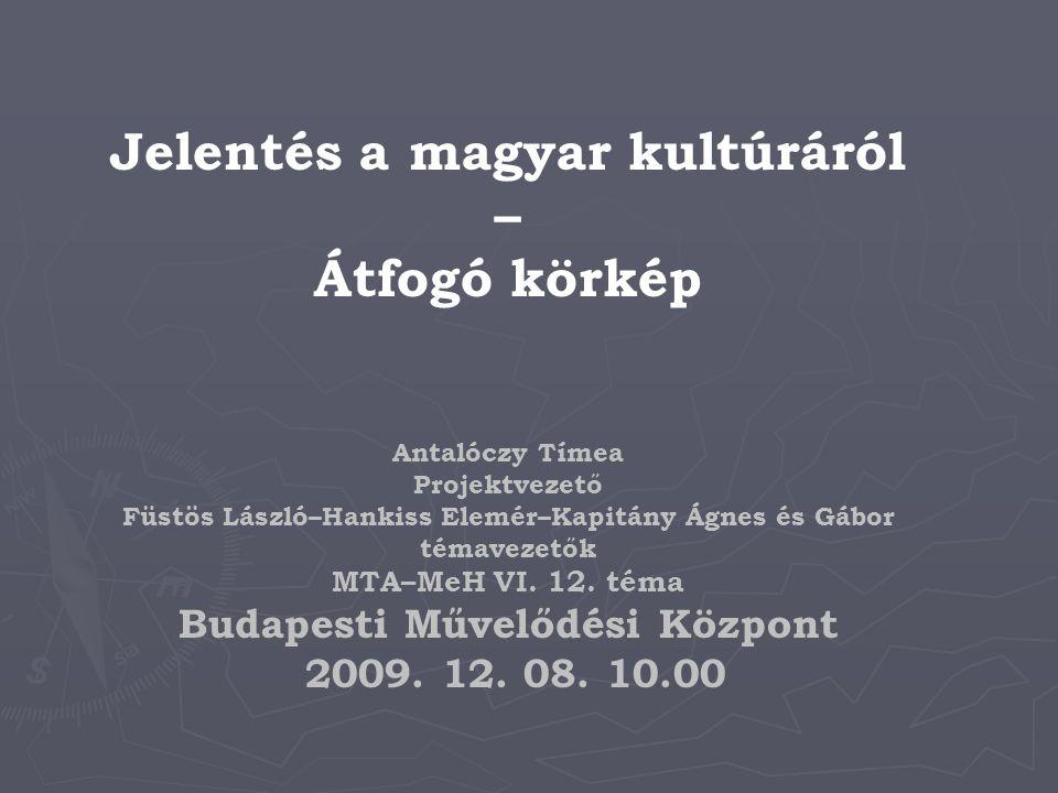 Történet – 1976-tól indult, majd folytatódott 1996, 2003, 2008 ► ► A kutatásokat összegző munkák: ► ► Vitányi Iván (1990) A társadalom logikája.