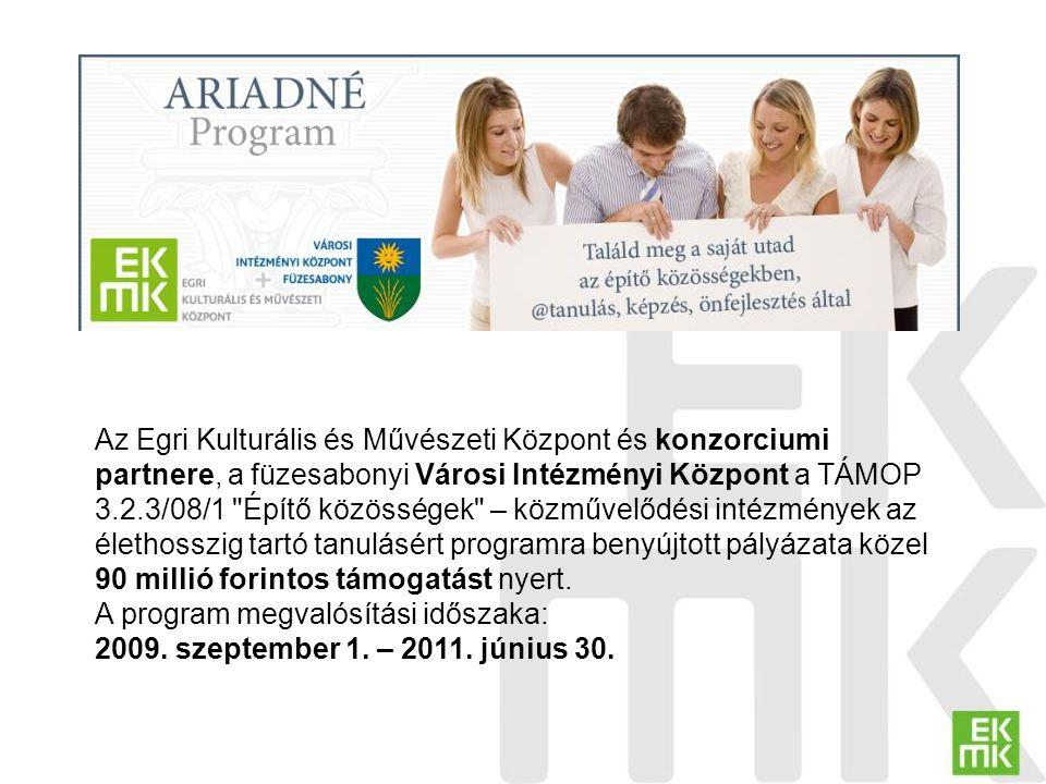 Kétpólusú program Célcsoport: munkanélküli, alulképzett, elsősorban roma származású felnőttek munkanélküli, elsősorban pályakezdő, legalább érettségivel rendelkező felnőttek Képzési irány: felzárkóztatás és integráció önállósodás és gazdaság-élénkítés