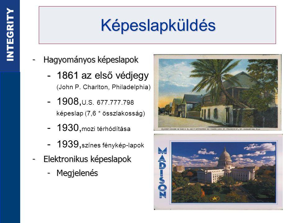 -Hagyományos képeslapok -1861 -1861 az első védjegy (John P.