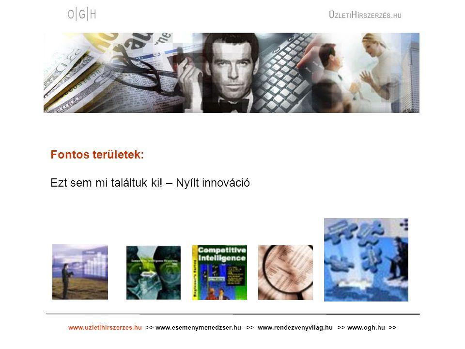 www.uzletihirszerzes.hu >> www.esemenymenedzser.hu >> www.rendezvenyvilag.hu >> www.ogh.hu >> Fontos területek: Ezt sem mi találtuk ki.