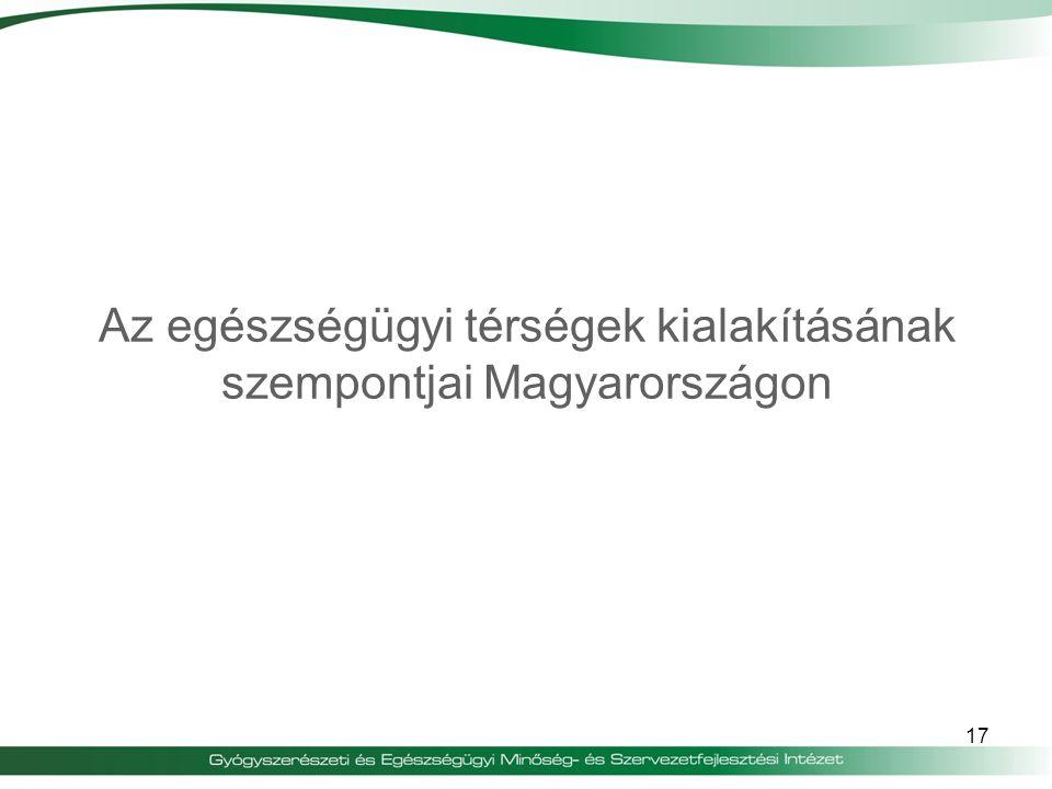 Az egészségügyi térségek kialakításának szempontjai Magyarországon 17