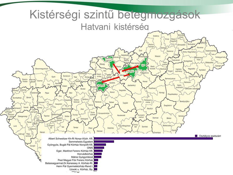 31 Kistérségi szintű betegmozgások Hatvani kistérség