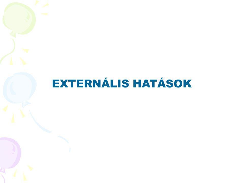 EXTERNÁLIS HATÁSOK