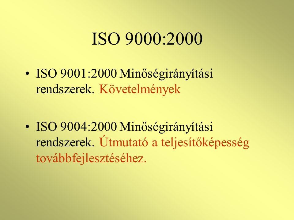 A SZABVÁNYOK VÁLTOZÁSAI ISO 9001, 9002, 9003 helyett csak egyféle; ISO 9001 szerinti tanúsítás A nem értelmezhető elemeket nem kell figyelembe venni I