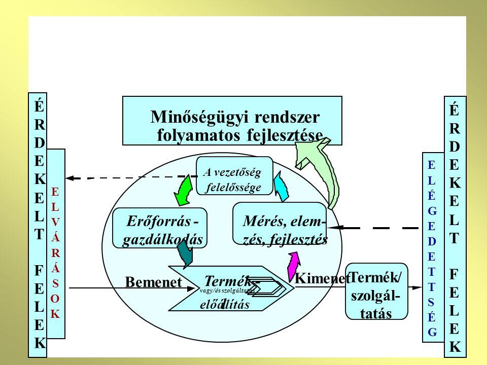 3. Folyamatirányítás 3.5.5 A folyamatok érvényesítő ellenőrzése 3.6 Ellenőrző, mérő- vizsgáló és figyelőeszközök kezelése