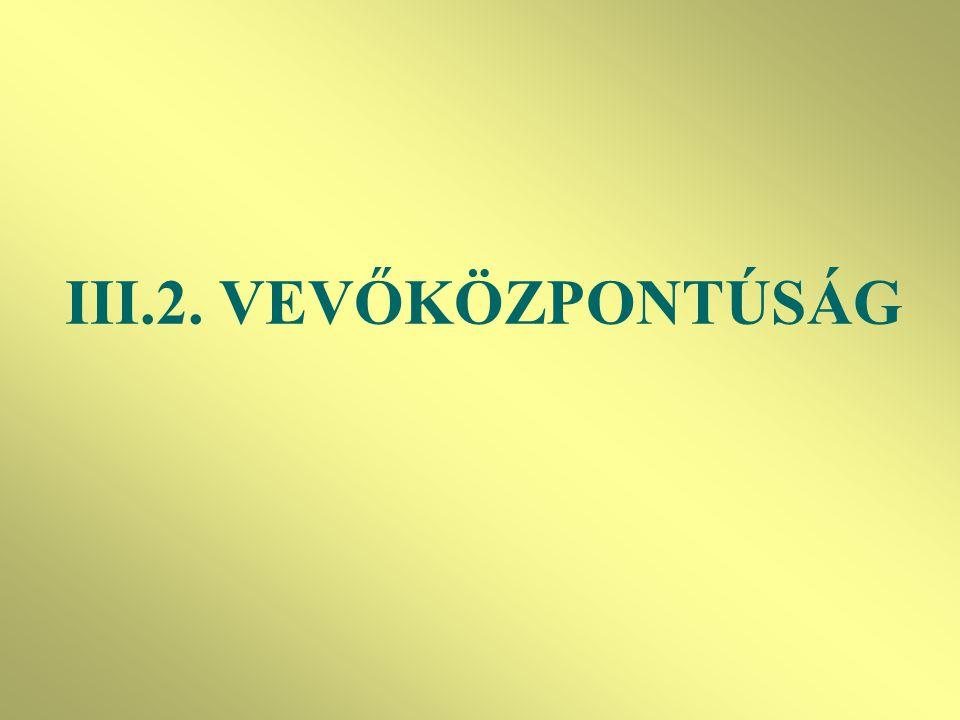 III.2. VEVŐKÖZPONTÚSÁG