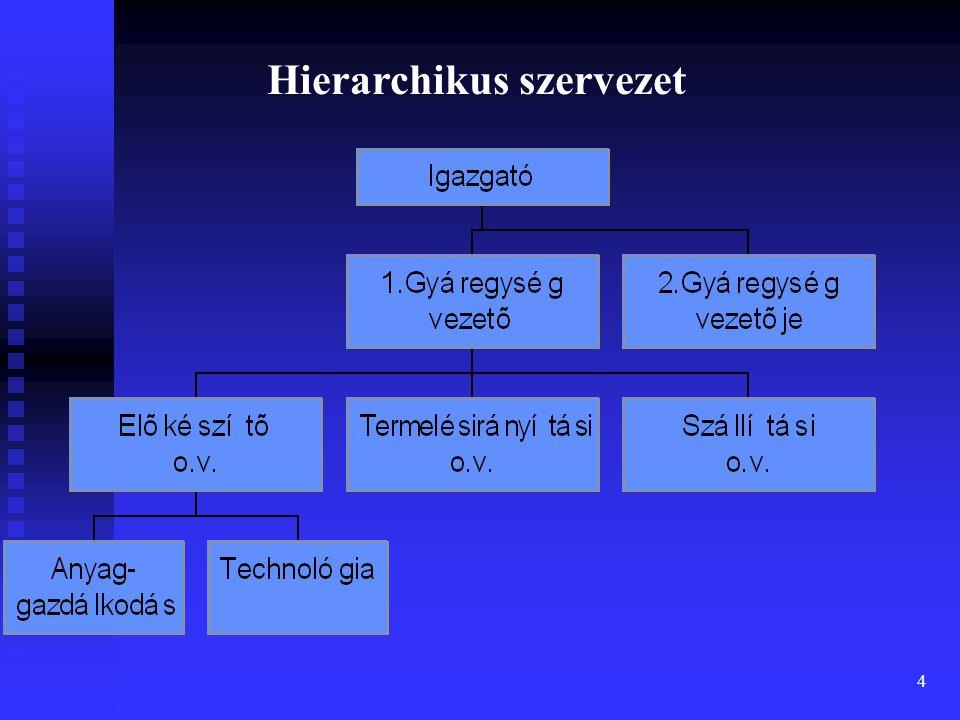4 Hierarchikus szervezet