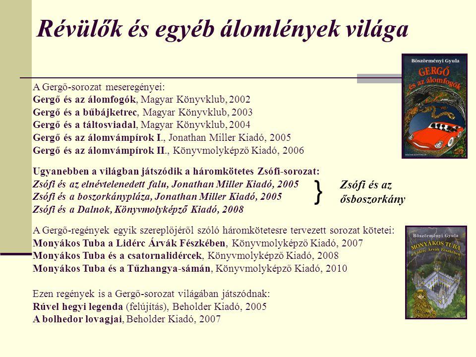 2005 – Zsófi és az elnévtelenedett falu + Zsófi és a boszorkánypláza 2008 – Zsófi és az ősboszorkány (Zsófi I.