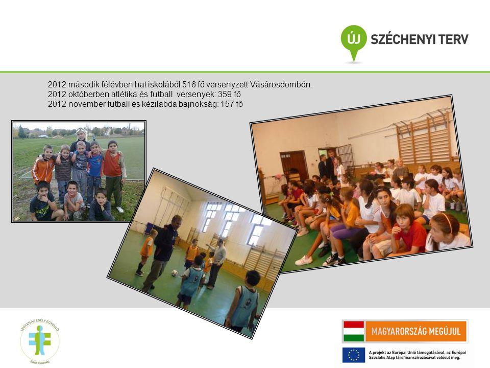 2012 második félévben hat iskolából 516 fő versenyzett Vásárosdombón.