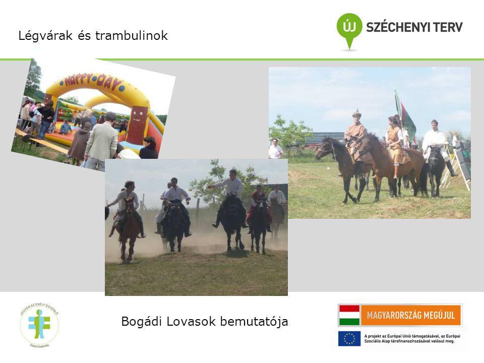 Bogádi Lovasok bemutatója Légvárak és trambulinok