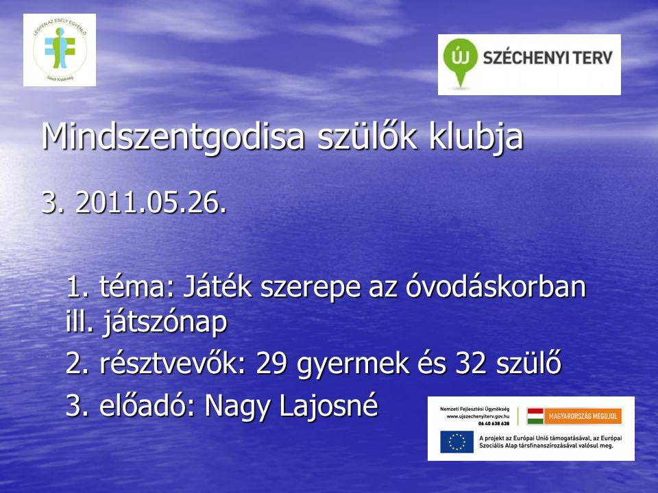 Mindszentgodisa szülők klubja 4.2011.06.10. 1. Téma: Abaligeti kirándulás 2.