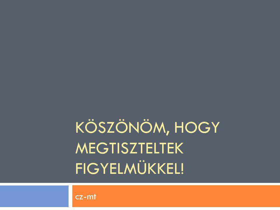 KÖSZÖNÖM, HOGY MEGTISZTELTEK FIGYELMÜKKEL! cz-mt