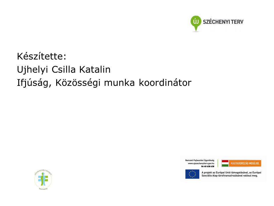 Készítette: Ujhelyi Csilla Katalin Ifjúság, Közösségi munka koordinátor