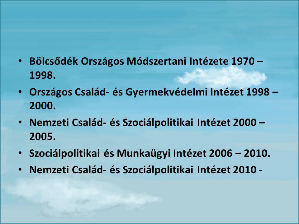 Bölcsődék Országos Módszertani Intézete 1970 – 1998.