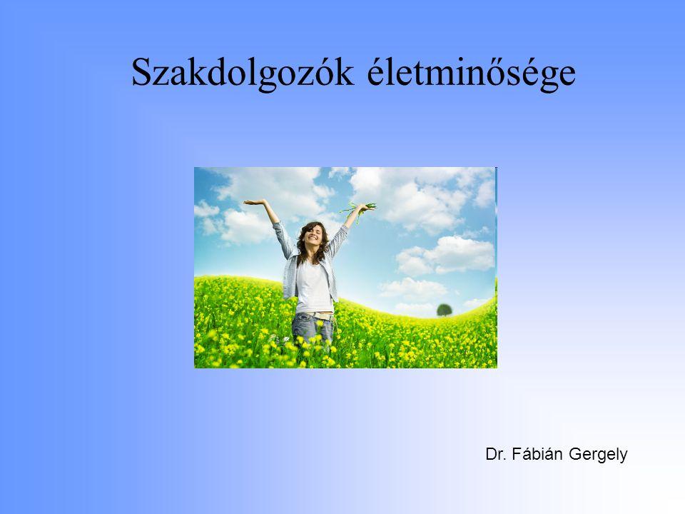 Szakdolgozók életminősége Dr. Fábián Gergely