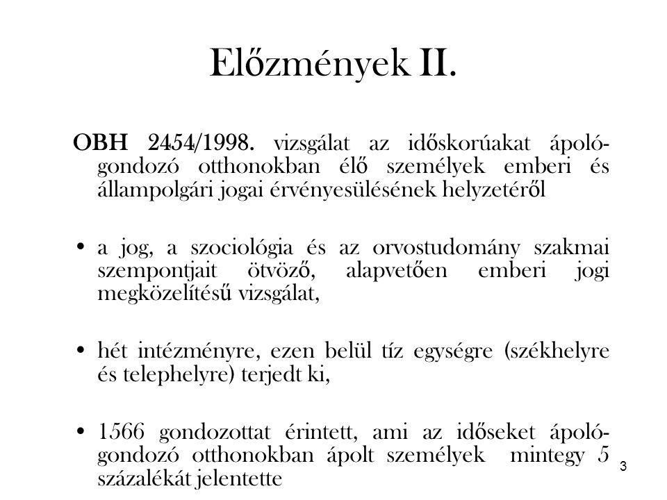 3 El ő zmények II. OBH 2454/1998.