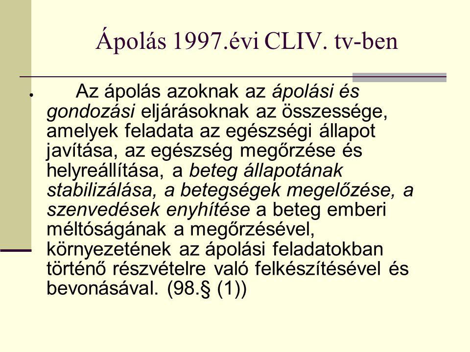 Ápolás 1997.évi CLIV.