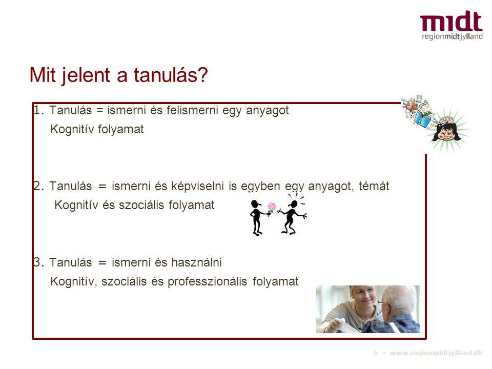 6 ▪ www.regionmidtjylland.dk Mit jelent a tanulás.