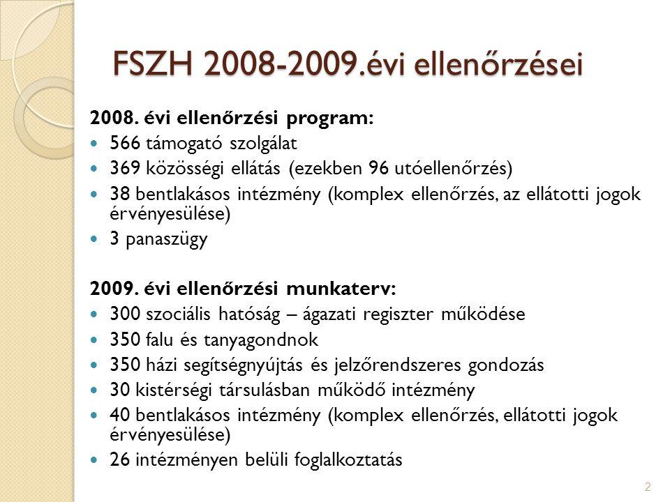 FSZH 2008-2009.évi ellenőrzései 2008.