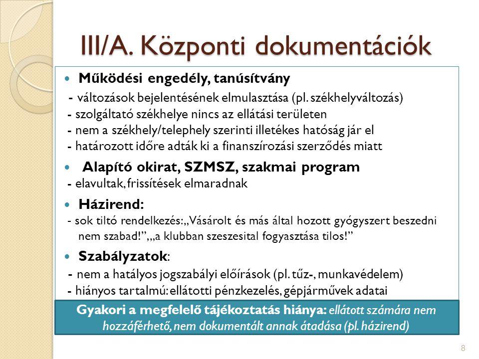 III/B.Ellátotti dokumentációk 1.