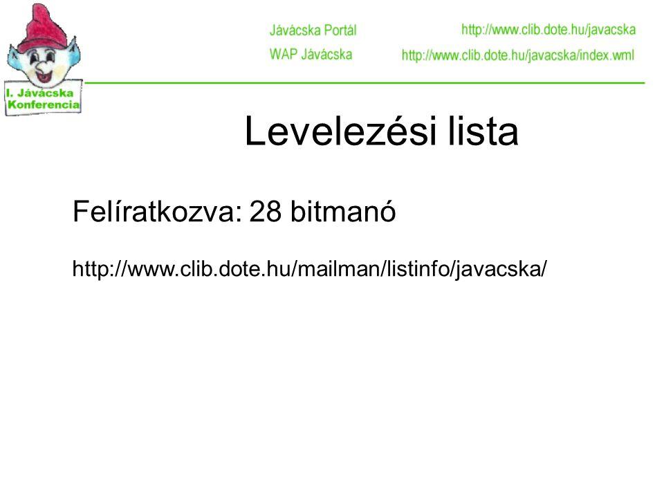 Remélem, viszontlátom a webszerver logjaiban! Köszönöm a figyelmet. Bátfai Norbert bn@javacska.hu