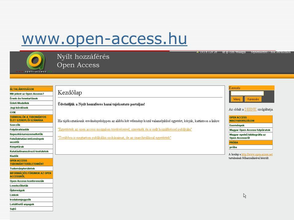 2009. június 24.Multimédia az oktatásban 200919 www.open-access.hu