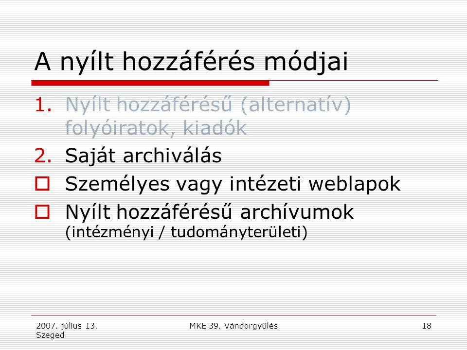 2007.július 13. Szeged MKE 39.