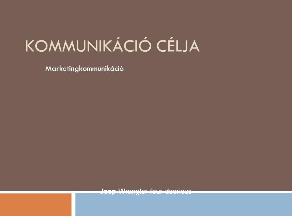 KOMMUNIKÁCIÓ CÉLJA Marketingkommunikáció Jeep Wrangler four-dooricus