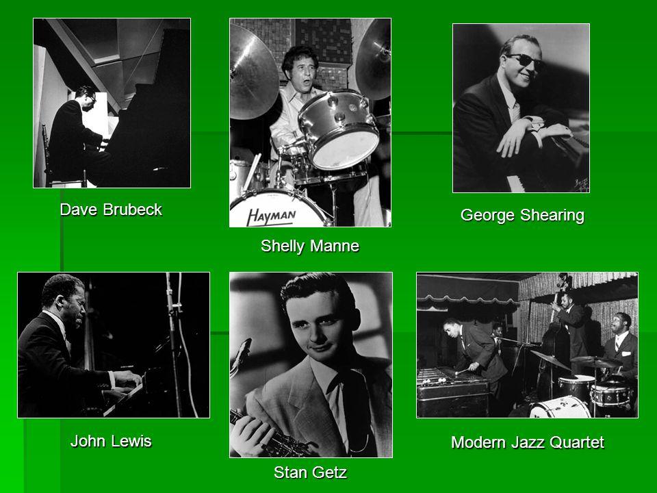 DaveBrubeck Dave Brubeck Shelly Manne George Shearing John Lewis Stan Getz Modern Jazz Quartet
