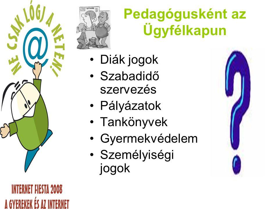 Érdeklődőként az Ügyfélkapun e – ügyintézés, de mi is ez Biztonság: számítógép és személyiség www.magyarorszag.hu