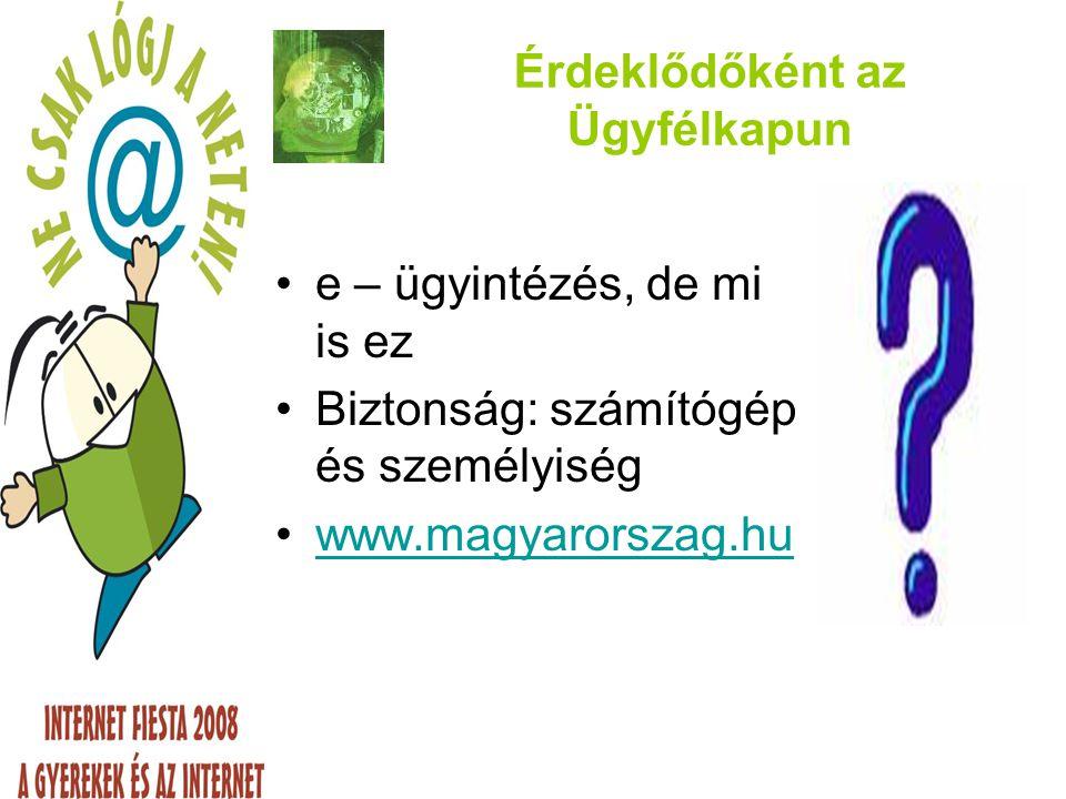 Regisztráció aktiválása ugyfelkapu@magyarorszag.hu feladótól levele érkezett.