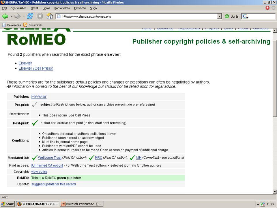 2007. május 22. Debrecen Digitalizálás és elektronikus hozzáférés 15