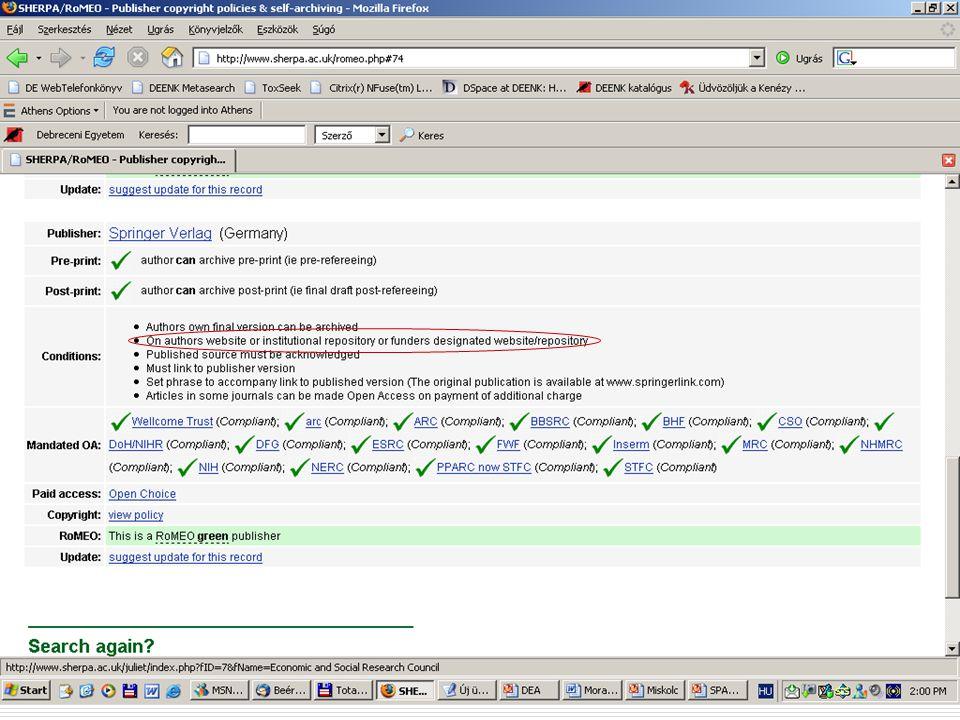 2007. május 22. Debrecen Digitalizálás és elektronikus hozzáférés 16